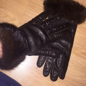 Prada Leather/ mink and 100% silk linking. NWOT